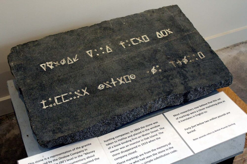 oak island mystery coded tablet - one of the best day trips from Halifax