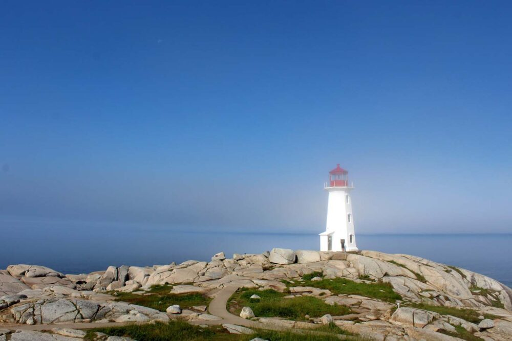 peggys cove lighthouse, one of the best day trips from halifax
