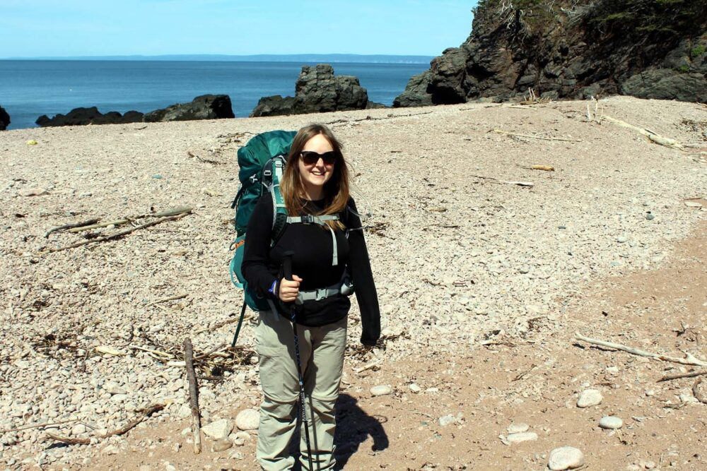 seal cove beach hiking cape chignecto gemma