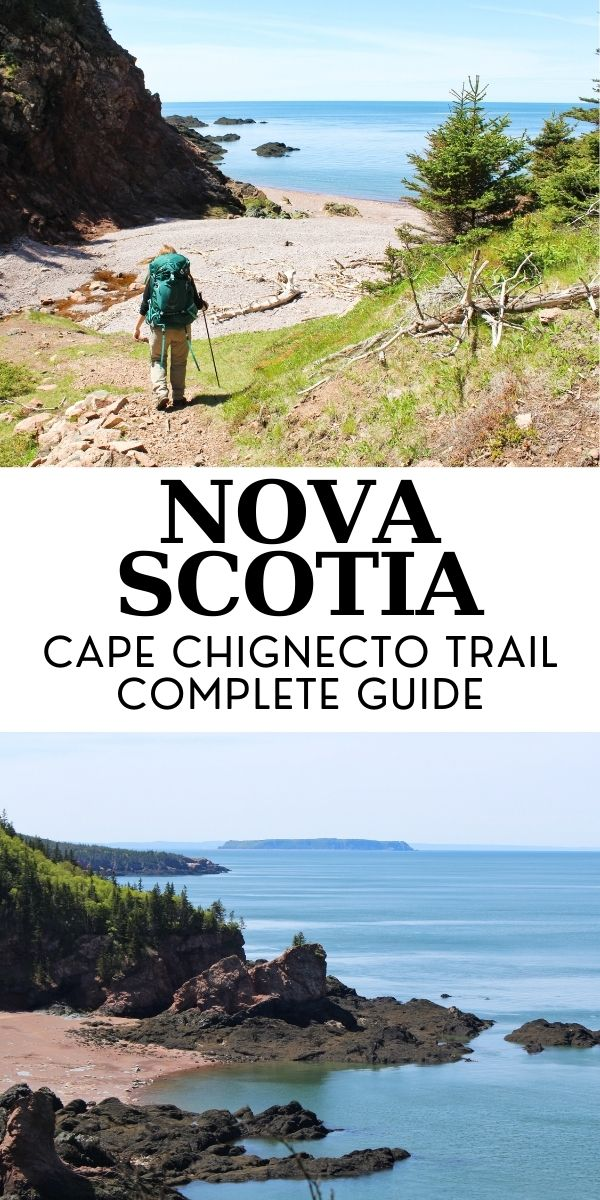 The Cape Chignecto Trail is a moderately challenging 3-4 day coastal hike in beautiful Nova Scotia, Canada. The path leads hikers to the top of towering cliffs and dramatic rock formations, overlooking sandy beaches tinged with red. It's a great challenge with awesome rewards! Click here for a full trail guide. offtracktravel.ca