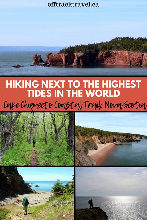 Hiking next to the highest tides in the world - click here to read about the beautiful 51km Cape Chignecto Coastal Trail near Parrsboro, Nova Scotia, Canada