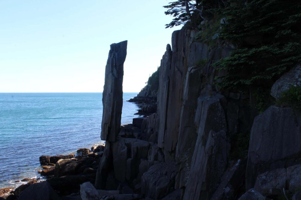 Balancing Rock at the edge of the ocean