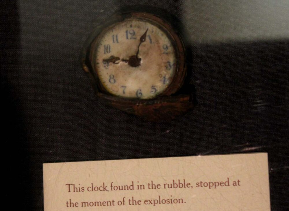 halifax explosion clock showing time of disaster