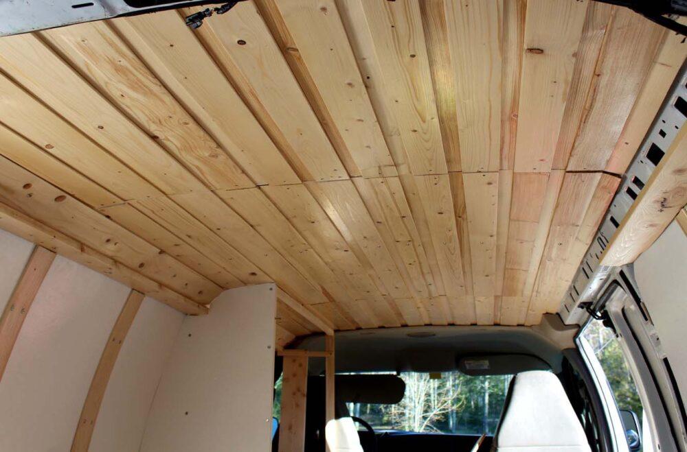 gmc savana diy van conversion ceiling