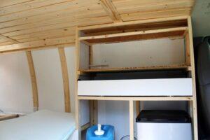 gmc savana diy van conversion cupboards