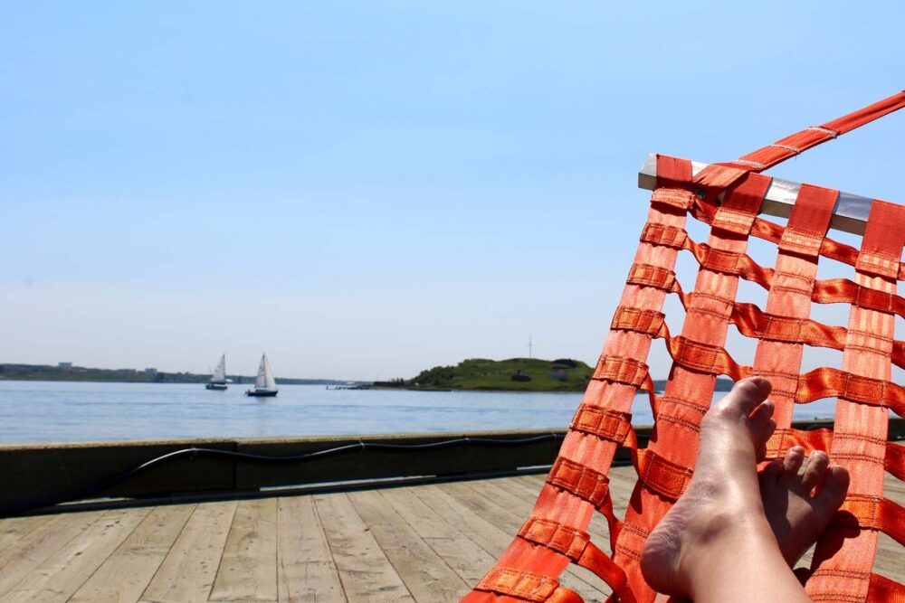 summer in halifax - waterfront hammocks