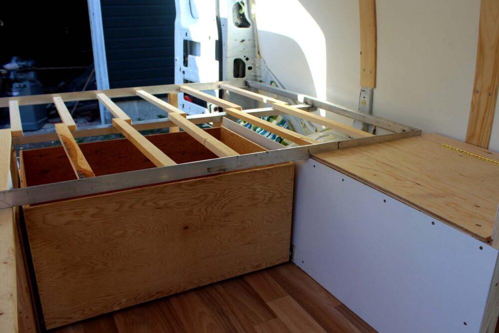 underbed drawer gmc van conversion