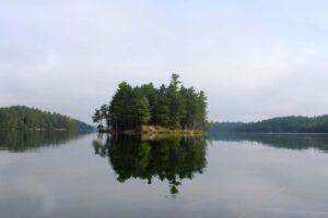 island campsite on lac 31 milles quebec