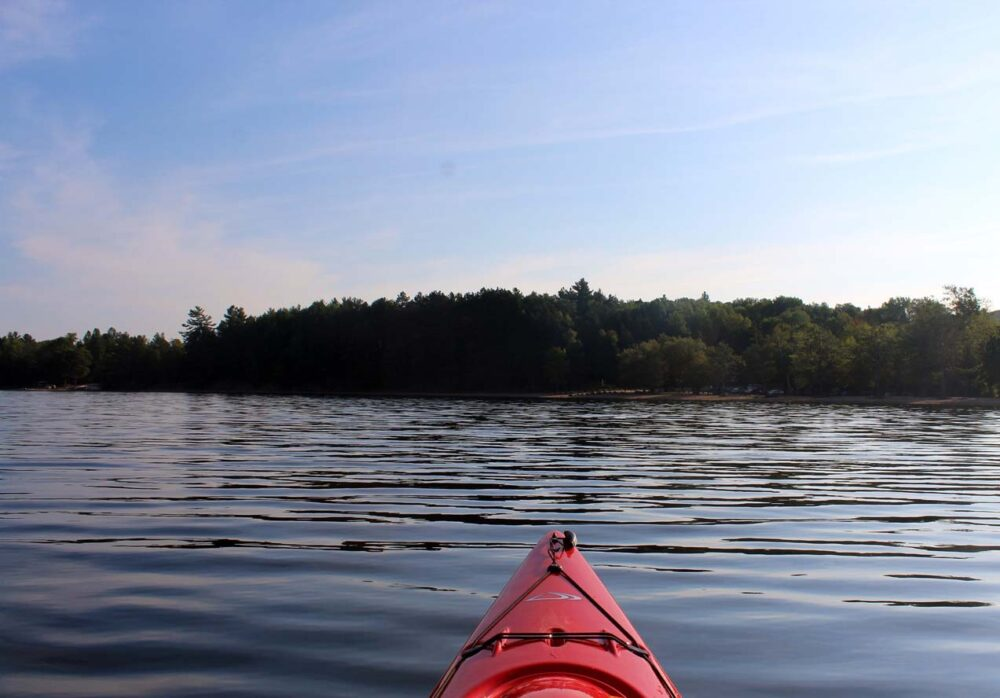 lac la peche kayak early morning gatineau valley