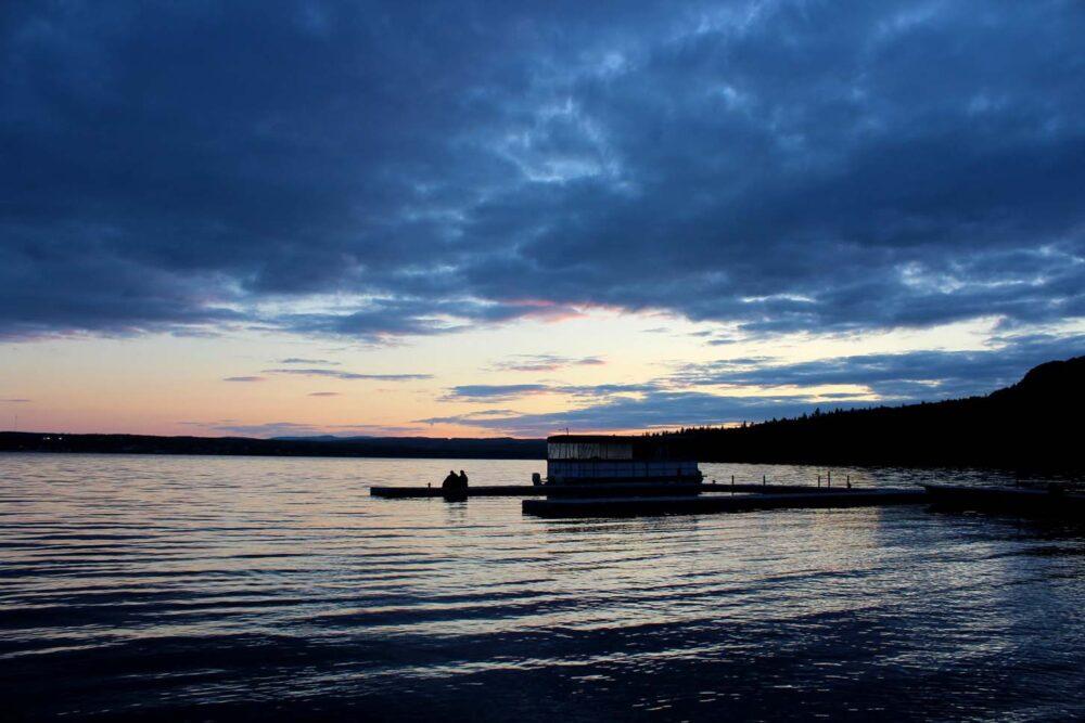 lac temiscoutata sunset quebec
