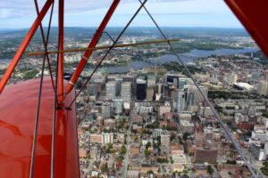 ottawa biplane flight over downtown