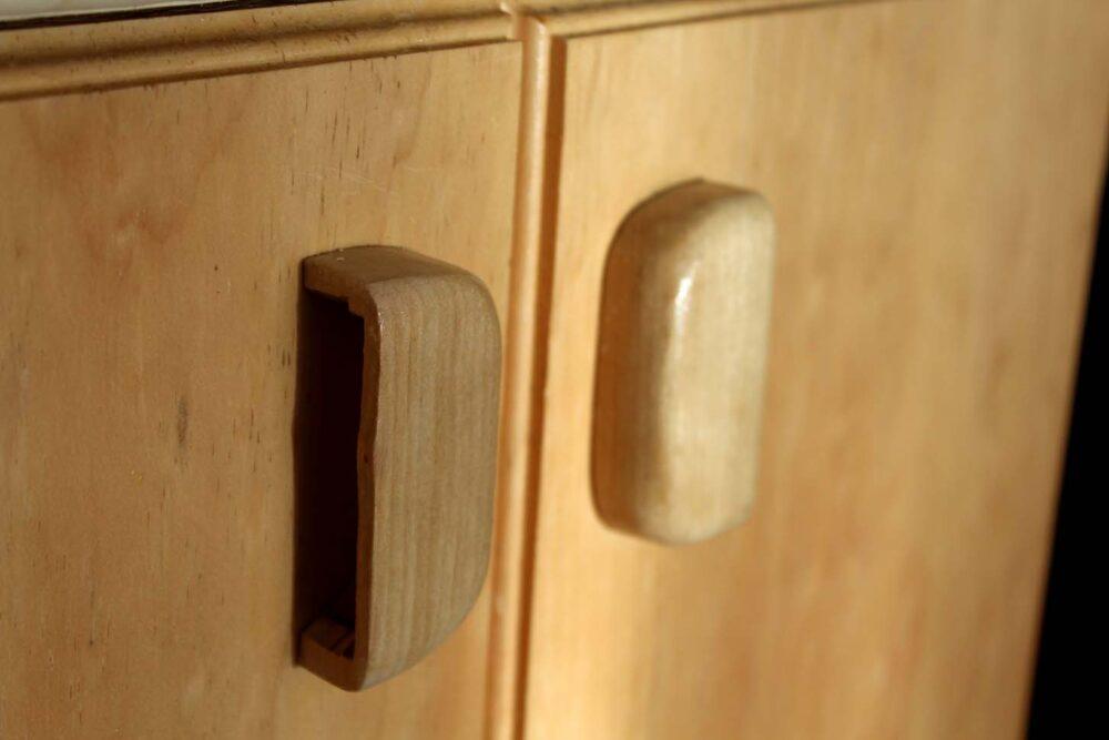 diy van conversion cupboard handles