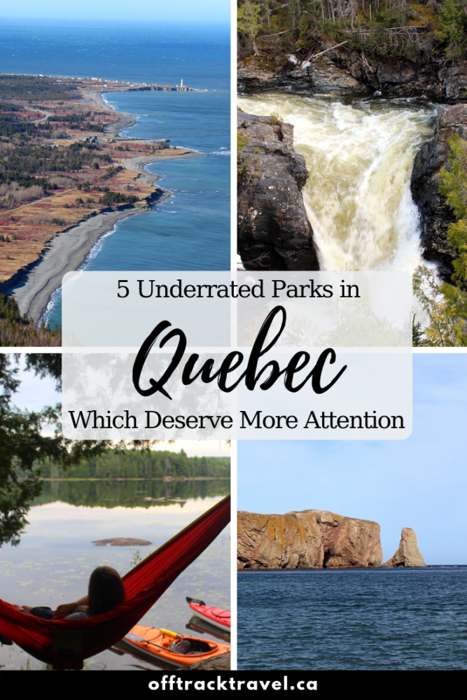 As the largest province in Canada, Quebec hosts a wide array of wilderness from mountainous plateaus, boreal forest to rugged coastal cliffs and lowland plains. There is a large network of national, provincial and regional parks that protect and share these landscapes - click here to read about few of them that deserve a little more attention. offtracktravel.ca