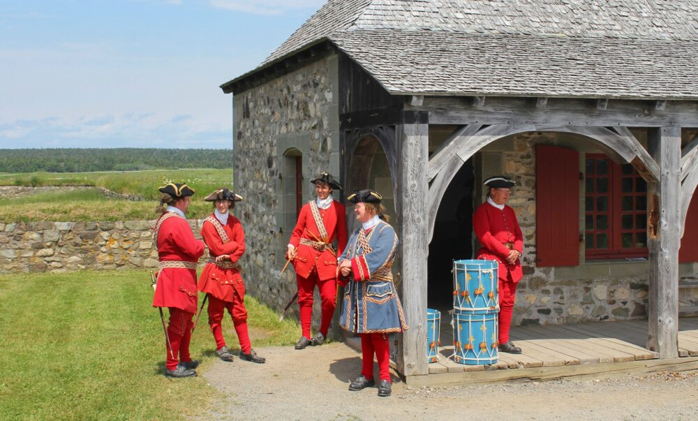 Louisbourg soldiers break time nova scotia