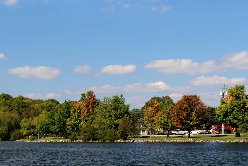 autumn colours trent severn waterway ontario