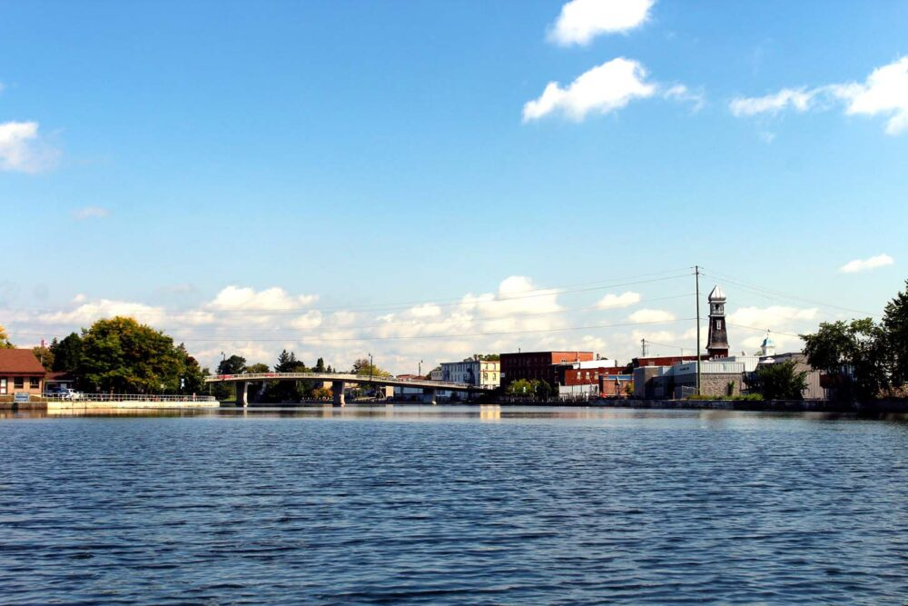 campbellford from the trent severn waterway ontario