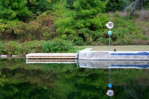 low canoe kayak dock at lock 8 trent severn ontario