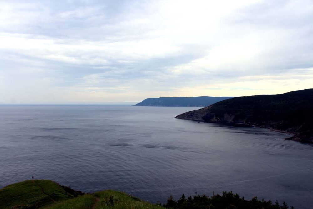 Big ocean views from Meat Cove lookout, Nova Scotia