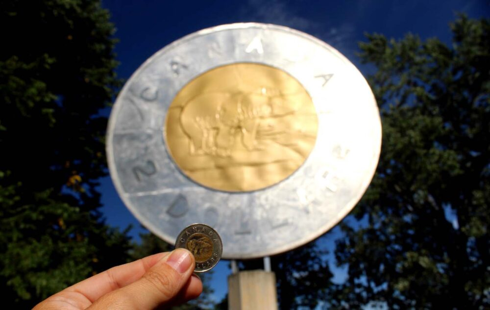 giant two dollar coin campbellton ontario