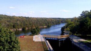 lock 11 12 trent severn waterway overall view