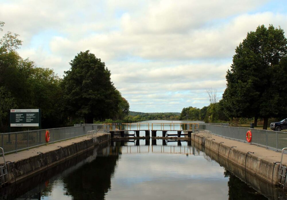 lock 8 on the trent severn waterway, ontario