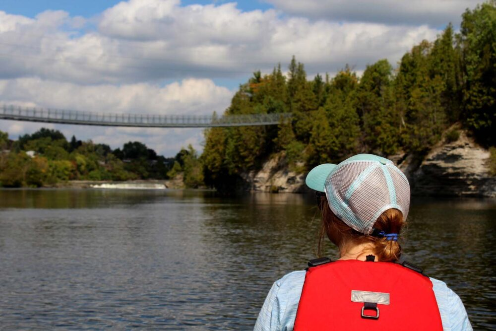 paddling the trent severn ferris suspension bridge ontario campbellton