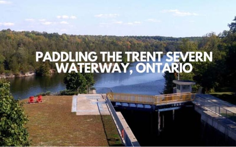 Paddling the Trent Severn Waterway near Campbellford, Ontario