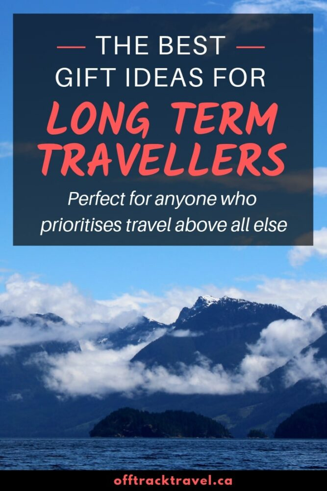 The best gift ideas for long term travellers, perfect for anyone who prioritises travel over everything else! Think experiences, not things this gifting season. offtracktravel.ca