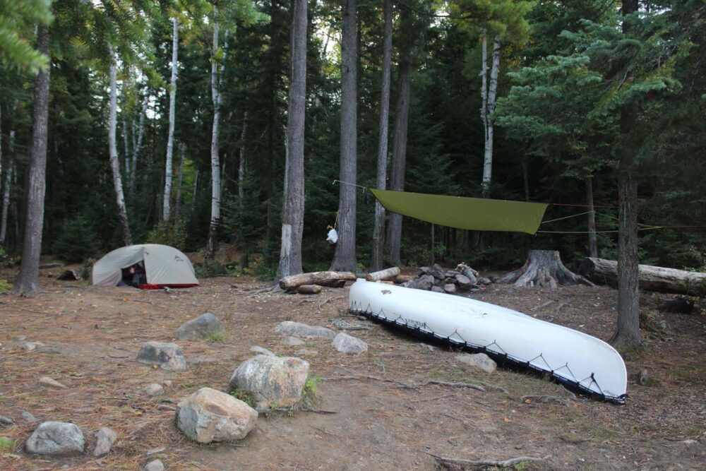 algonquin provincial park backcountry campsite