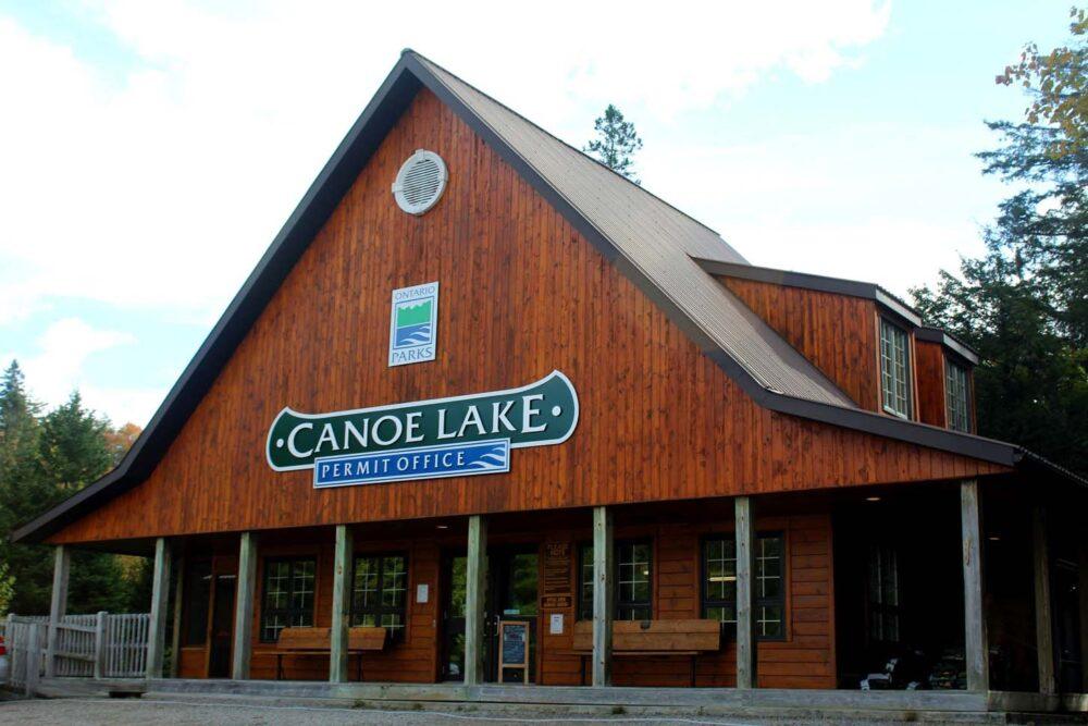 canoe lake permit office algonquin provincial park