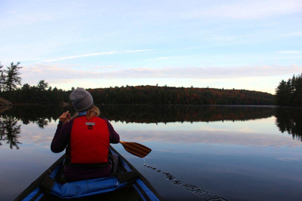 gemma paddling algonquin littledoe lake