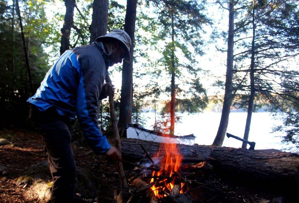 jr fire algonquin provincial park