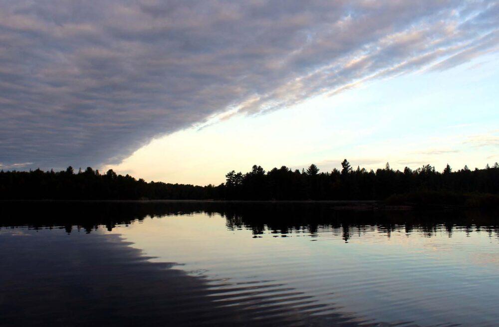 littledoe lake dawn algonquin provincial park