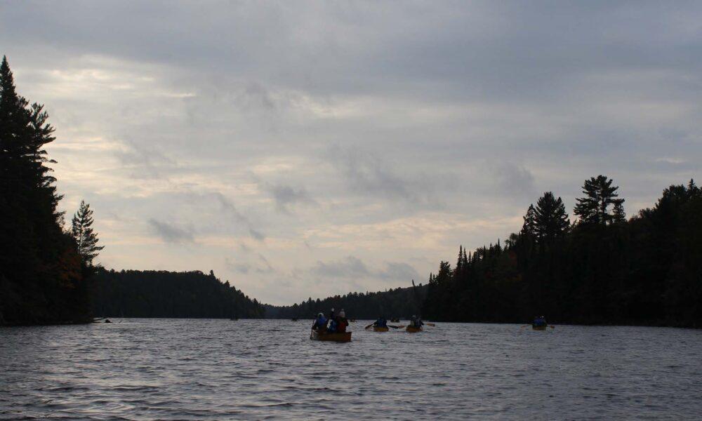 morning canoeing algonquin provincial park