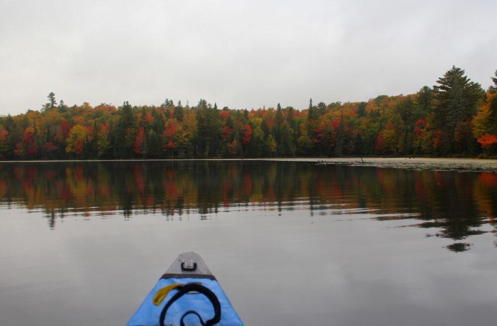 paddling algonquin provincial park autumn colours