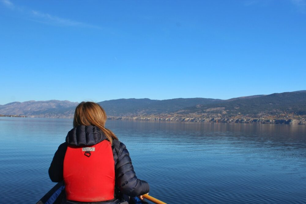 paddling okanagan lake november gemma