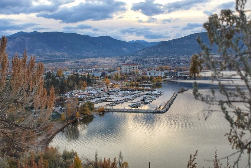 penticton in november from kettle valley railway trail