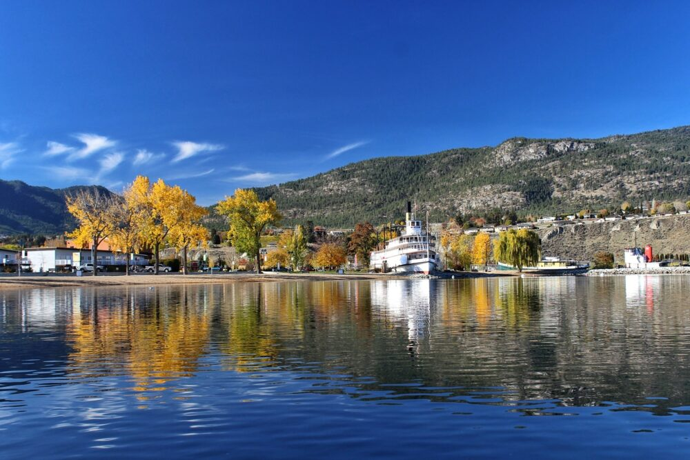 ss sicamous autumn from okanagan lake