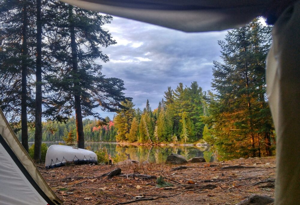 view from the tent algonquin provincial park