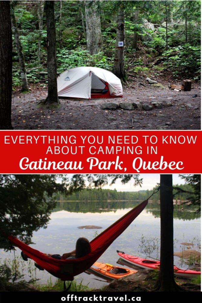 Easy to reach, navigate and explore, Gatineau Park is the perfect place to get back in touch with nature. Click here for a complete guide to camping in Quebec's beautiful Gatineau Park.It's only a fifteen minute drive from Ottawa! offtracktravel.ca