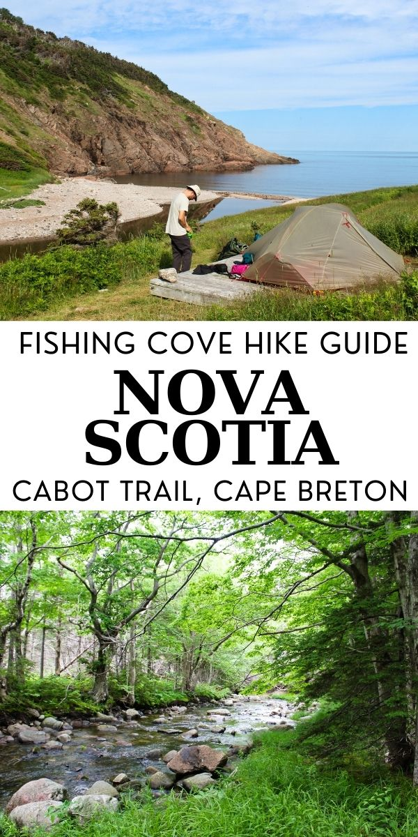 Cape Breton's Fishing Cove trail is a 12km out and back hike, easily accessible from the beautiful Cabot Trail. It an be completed as either a day hike (4-5 hours) or an overnight backpacking trip. Read this post to learn everything you need to know about this trail in Nova Scotia, Canada