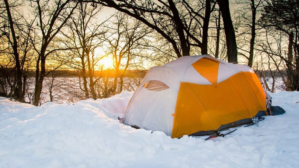 Gatineau Park camping in winter