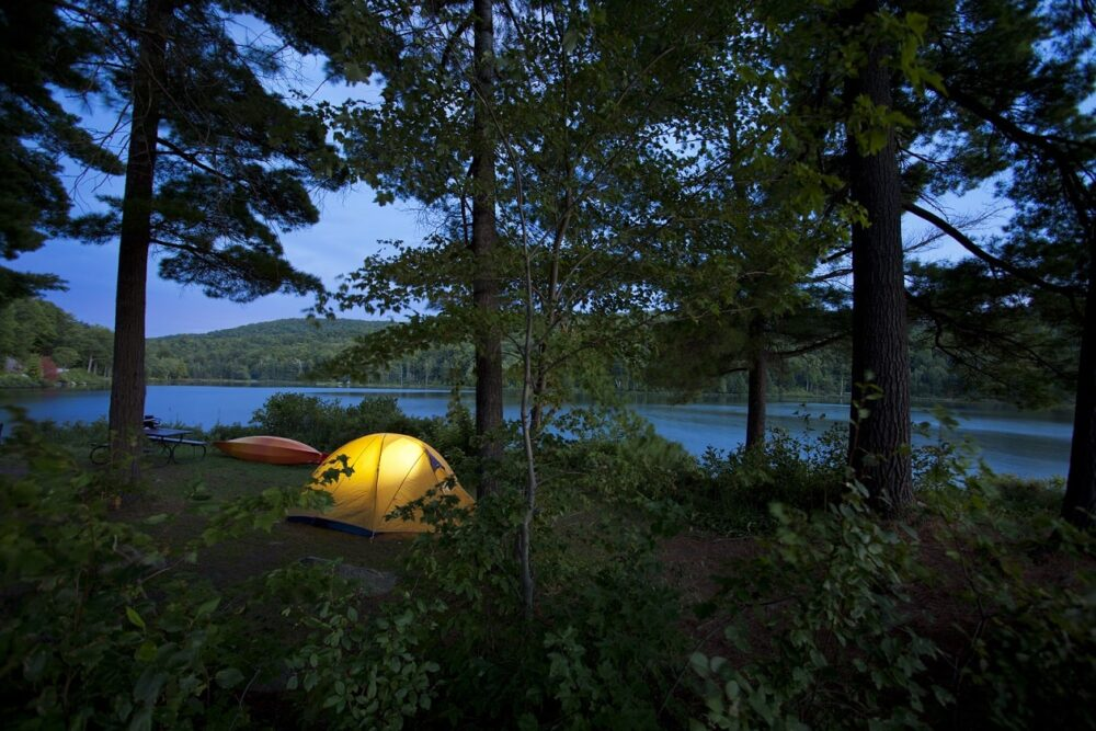 canoe camping in gatineau park quebec