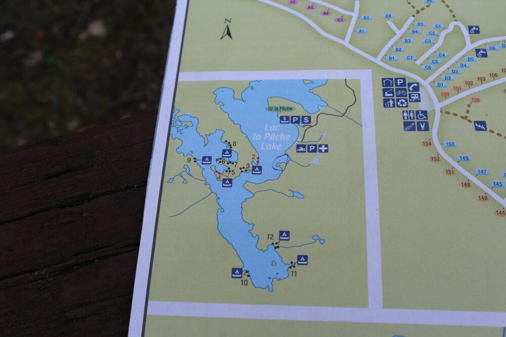 lac la peche map gatineau park quebec