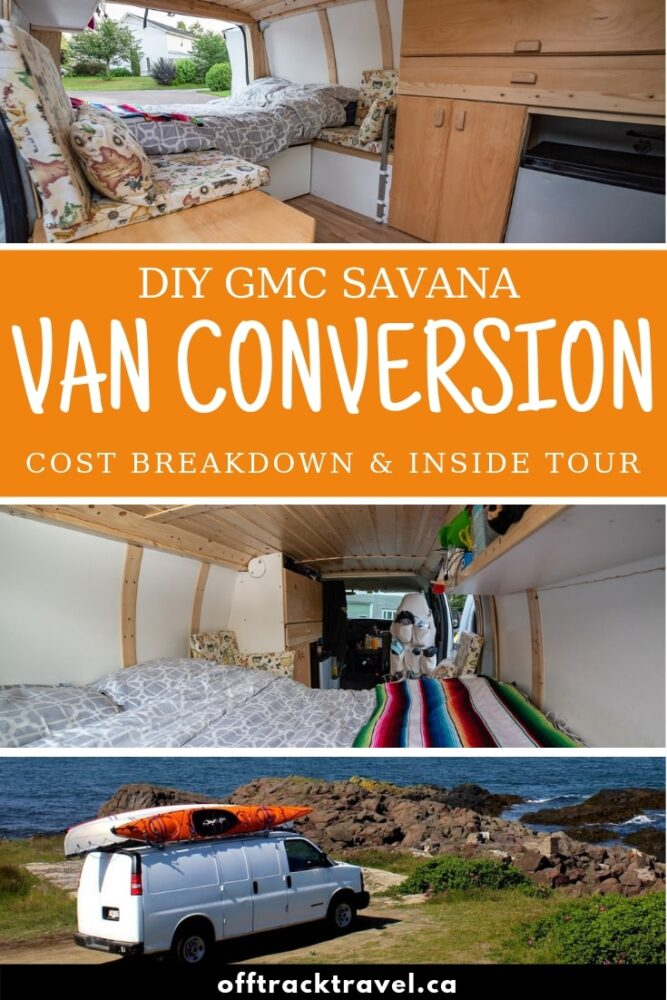 All the essential details of our sub-$3000 GMC Savana van conversion, including an inside tour, design rationale and cost breakdown plus links to construction diaries - offtracktravel.ca
