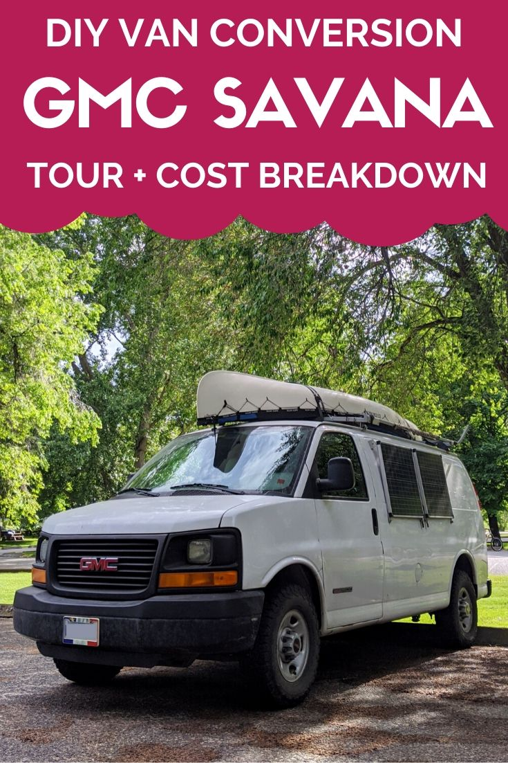 All the essential details of our sub-$3000 (CAD) GMC Savana 2500 DIY van conversion, including an inside tour, design rationale and cost breakdown plus links to construction diaries - offtracktravel.ca