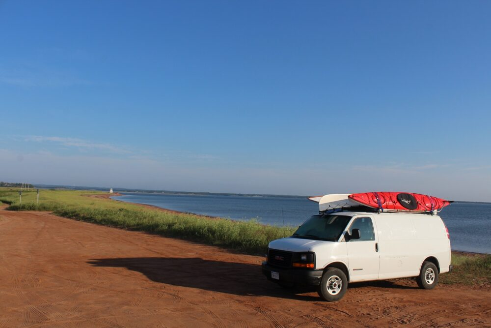 GMC savana conversion van pei beach