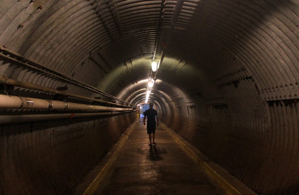 the diefenbunker blast tunnel in ottawa, definitely one of the best indoor activities in Ottawa