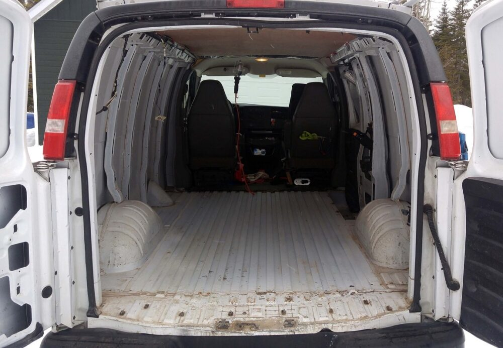 empty gmc savana conversion van