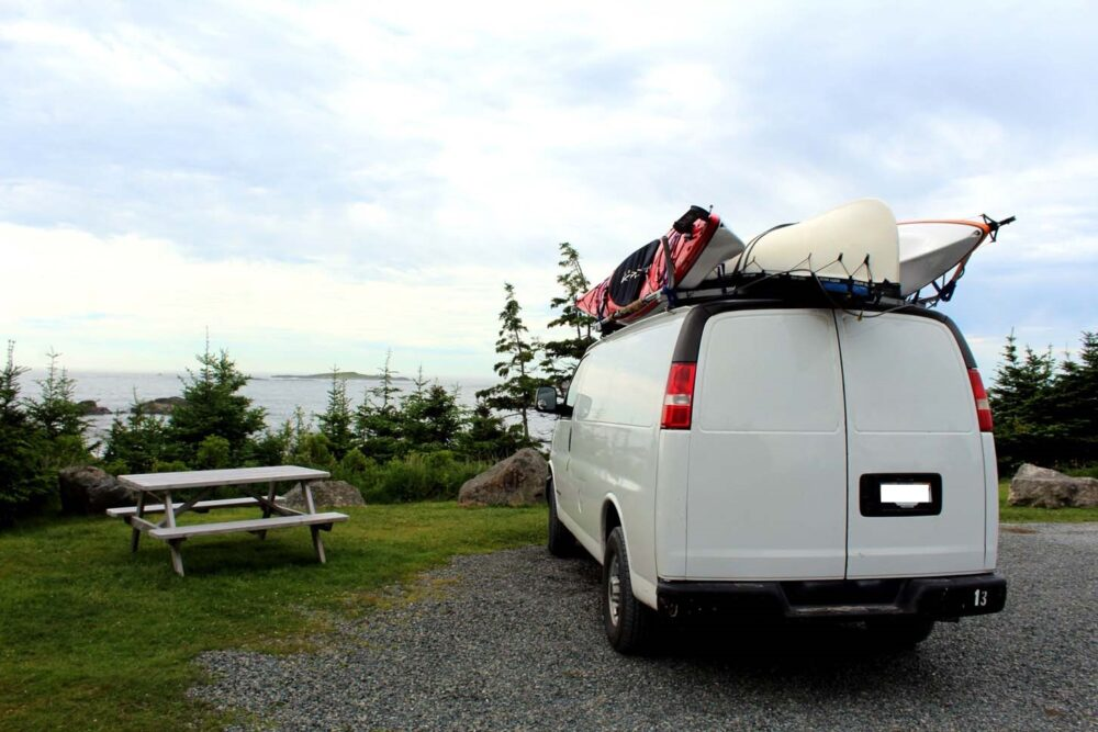 louisbourg van camping views